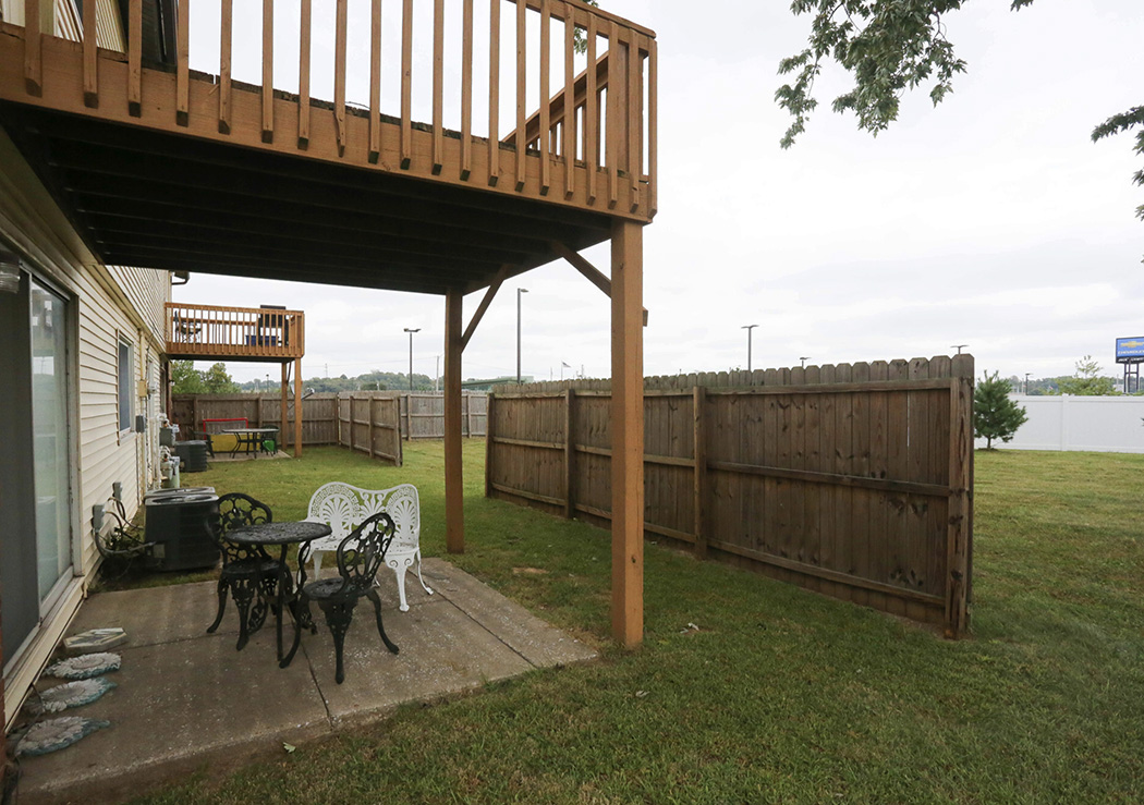 Backyard, deck, patio